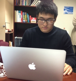 PENNCAP student utilizing laptop services